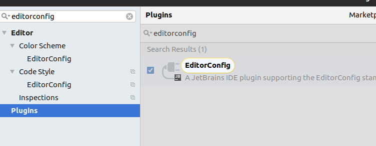 Plugin EditorConfig in PHPstorm